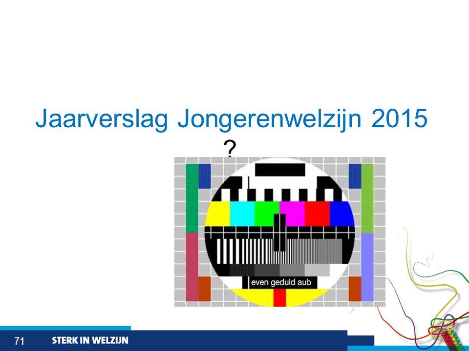 71 Jaarverslag Jongerenwelzijn 2015 ?