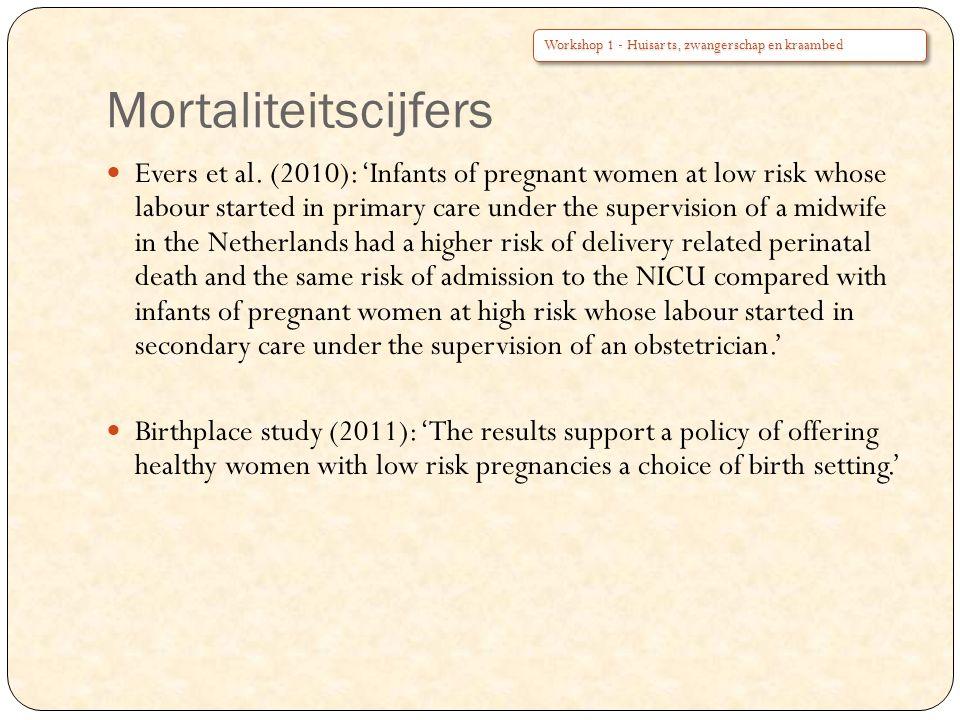 Mortaliteitscijfers Evers et al.