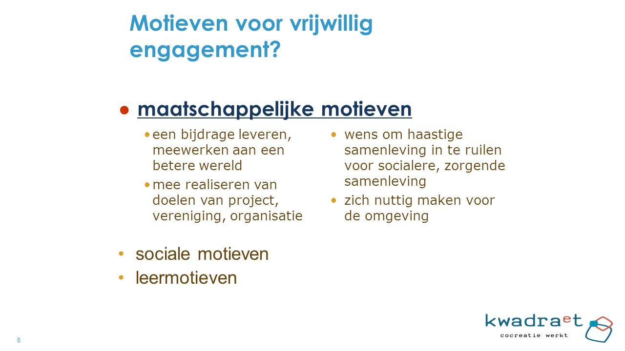 8 Motieven voor vrijwillig engagement.