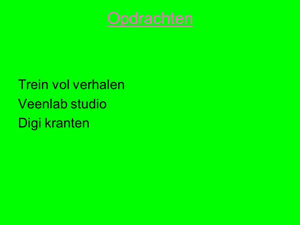 Opdrachten Trein vol verhalen Veenlab studio Digi kranten