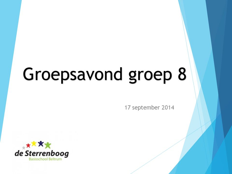 Groepsavond groep 8 17 september 2014