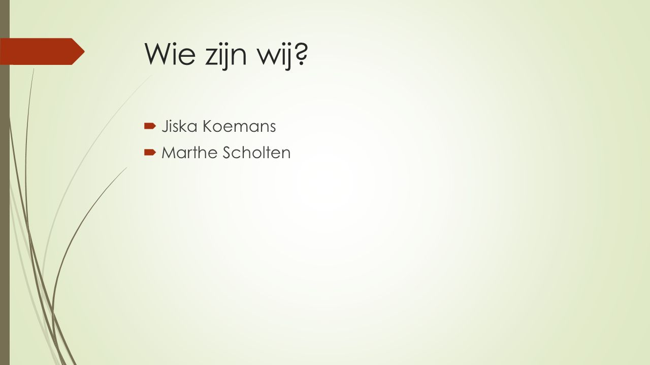 Wie zijn wij  Jiska Koemans  Marthe Scholten