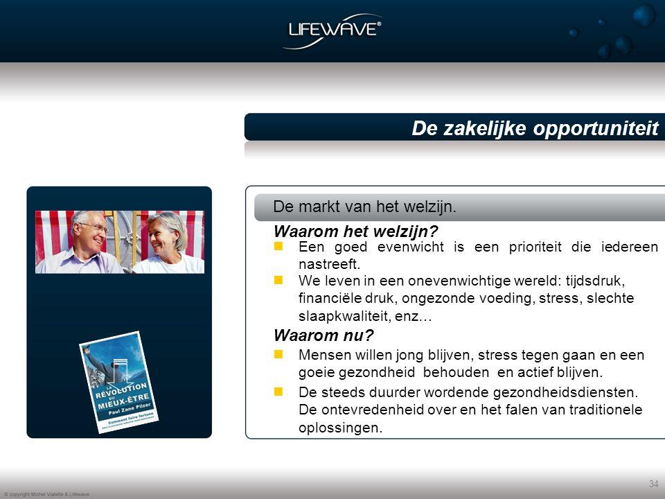 34 De zakelijke opportuniteit De markt van het welzijn.