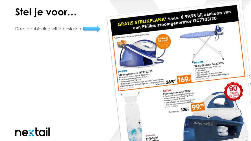 Niet op voorraad… 4 Product verdwijnt van de webshop vanwege het ontbreken van voorraad.