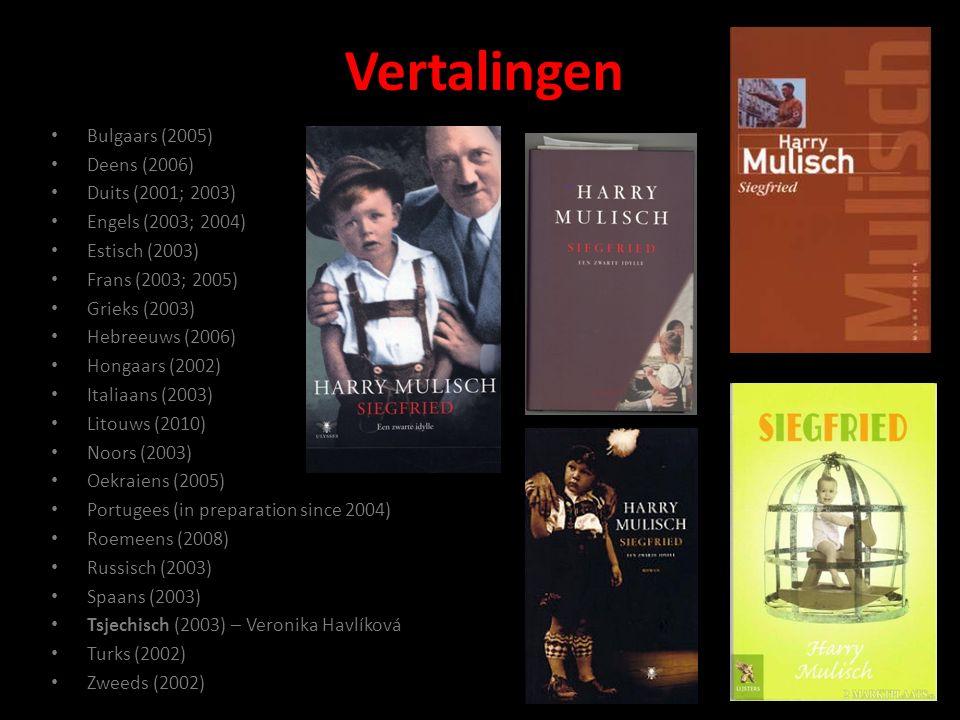 Vertalingen Bulgaars (2005) Deens (2006) Duits (2001; 2003) Engels (2003; 2004) Estisch (2003) Frans (2003; 2005) Grieks (2003) Hebreeuws (2006) Hongaars (2002) Italiaans (2003) Litouws (2010) Noors (2003) Oekraiens (2005) Portugees (in preparation since 2004) Roemeens (2008) Russisch (2003) Spaans (2003) Tsjechisch (2003) – Veronika Havlíková Turks (2002) Zweeds (2002)