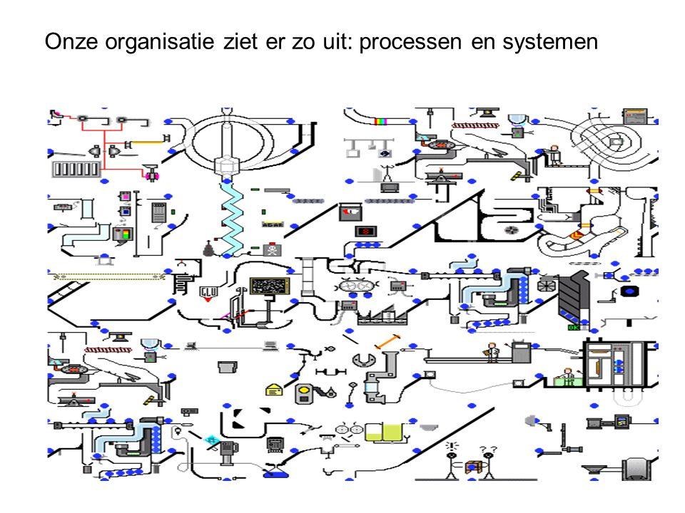 Onze organisatie ziet er zo uit: processen en systemen