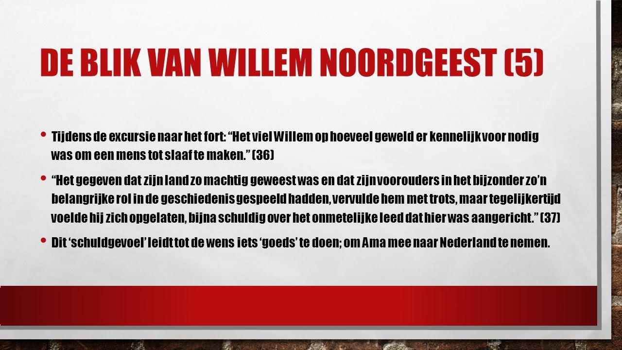 """DE BLIK VAN WILLEM NOORDGEEST (5) Tijdens de excursie naar het fort: """"Het viel Willem op hoeveel geweld er kennelijk voor nodig was om een mens tot sl"""