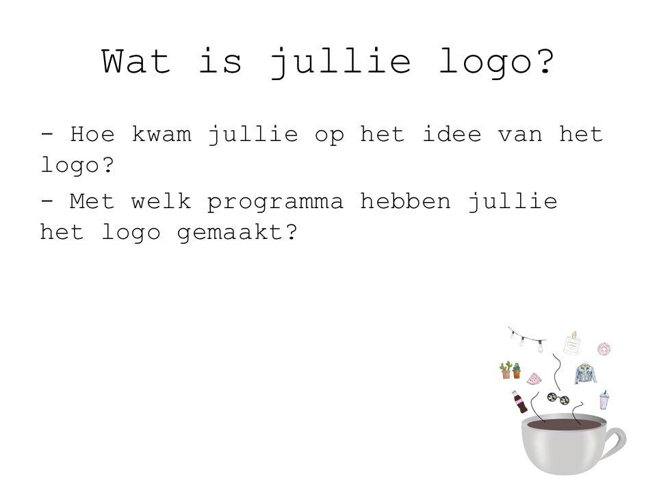 Wat is jullie logo.- Hoe kwam jullie op het idee van het logo.