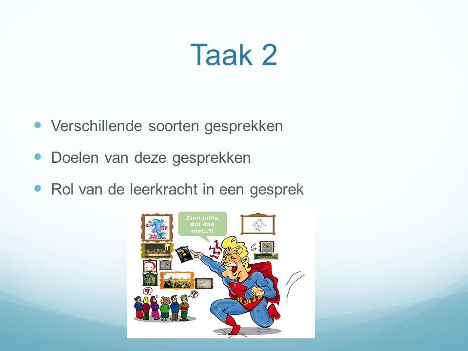 Taak 3 Betekenisvolle communicatie Rekening houden met kwaliteiten van het kind (MI) Zone van naaste ontwikkeling Betrokkenheid vergroten