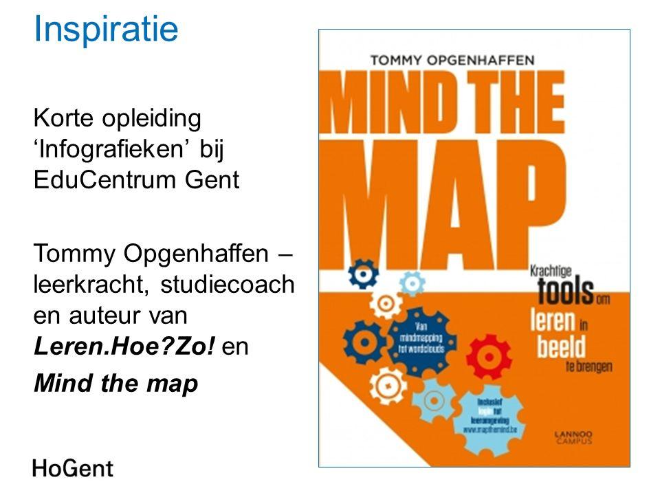 Inspiratie Korte opleiding 'Infografieken' bij EduCentrum Gent Tommy Opgenhaffen – leerkracht, studiecoach en auteur van Leren.Hoe?Zo.