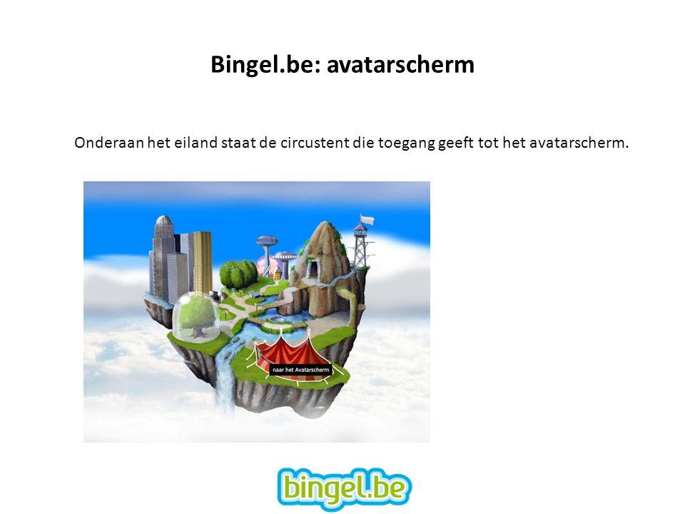 Onderaan het eiland staat de circustent die toegang geeft tot het avatarscherm.