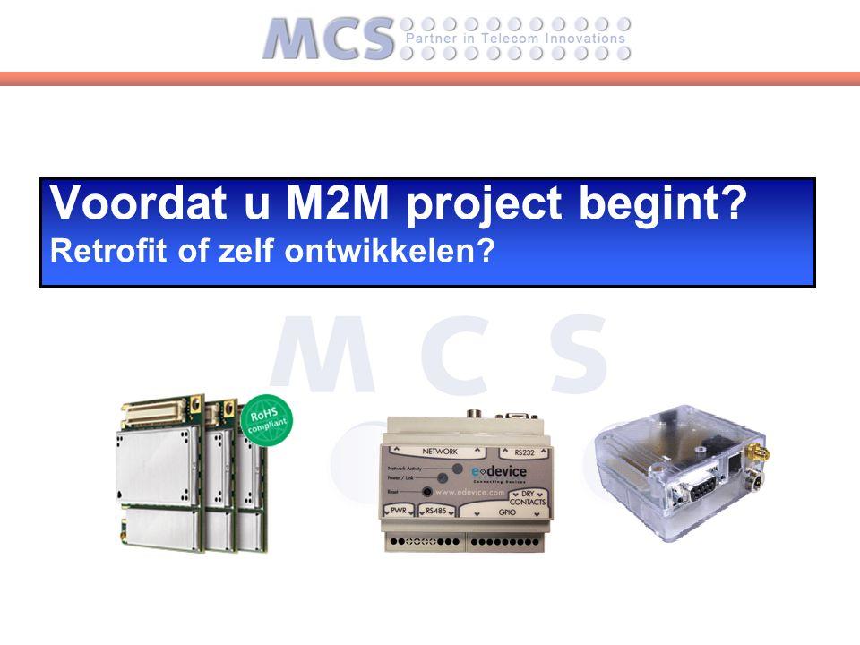 Voordat u M2M project begint Retrofit of zelf ontwikkelen