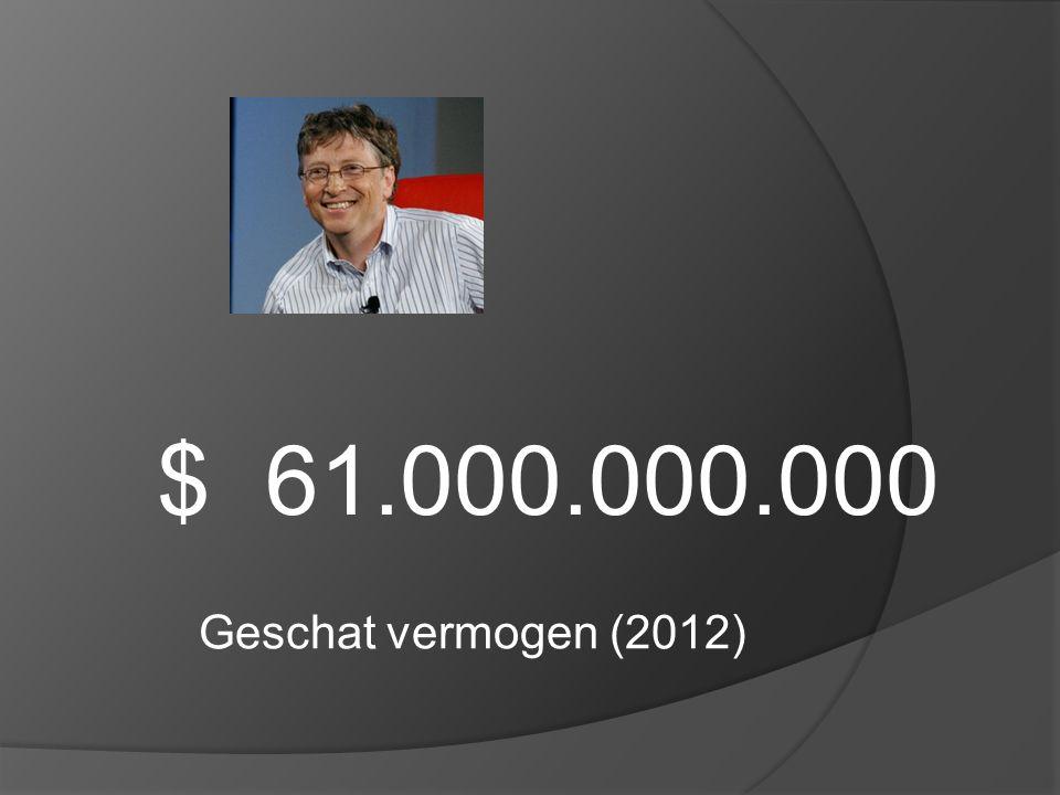 $ 61.000.000.000 Geschat vermogen (2012)