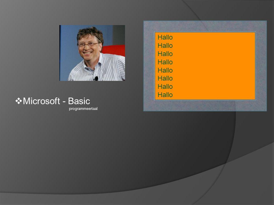  Microsoft - Basic programmeertaal Hallo