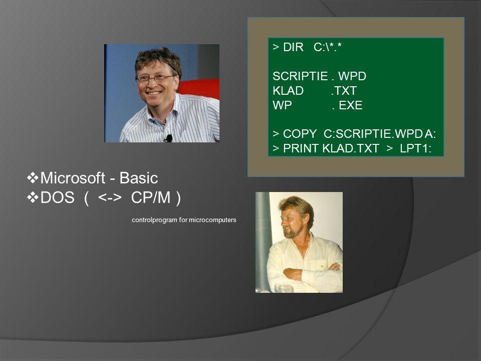 > DIR C:\*.* SCRIPTIE. WPD KLAD.TXT WP.