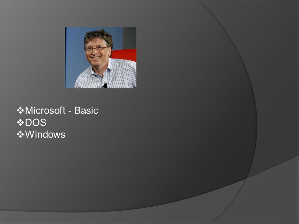  Microsoft - Basic  DOS  Windows