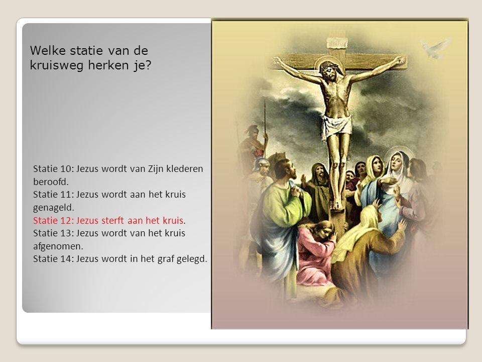 Statie 10: Jezus wordt van Zijn klederen beroofd.Statie 11: Jezus wordt aan het kruis genageld.
