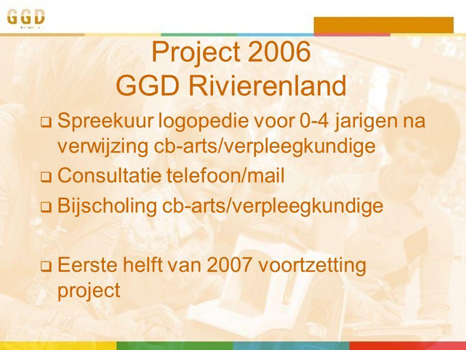 Vanaf schooljaar 2007-2008  Project opgenomen in basispakket preventie  In alle 9 gemeenten van Regio Rivierenland