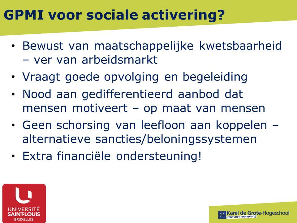 GPMI voor sociale activering.