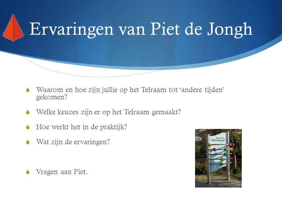 Ervaringen van Piet de Jongh  Waarom en hoe zijn jullie op het Telraam tot 'andere tijden' gekomen.