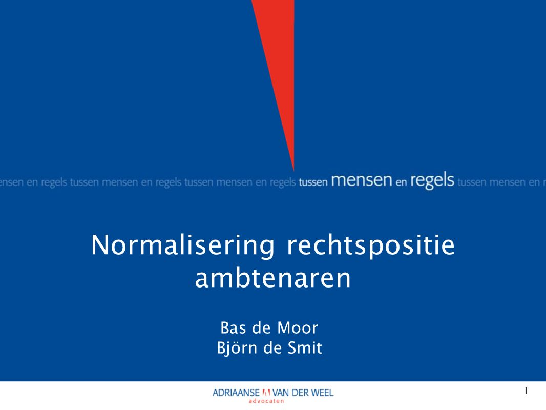 Korte kennismaking Bas de Moor, Björn de Smit Wat is 'normalisering' 2