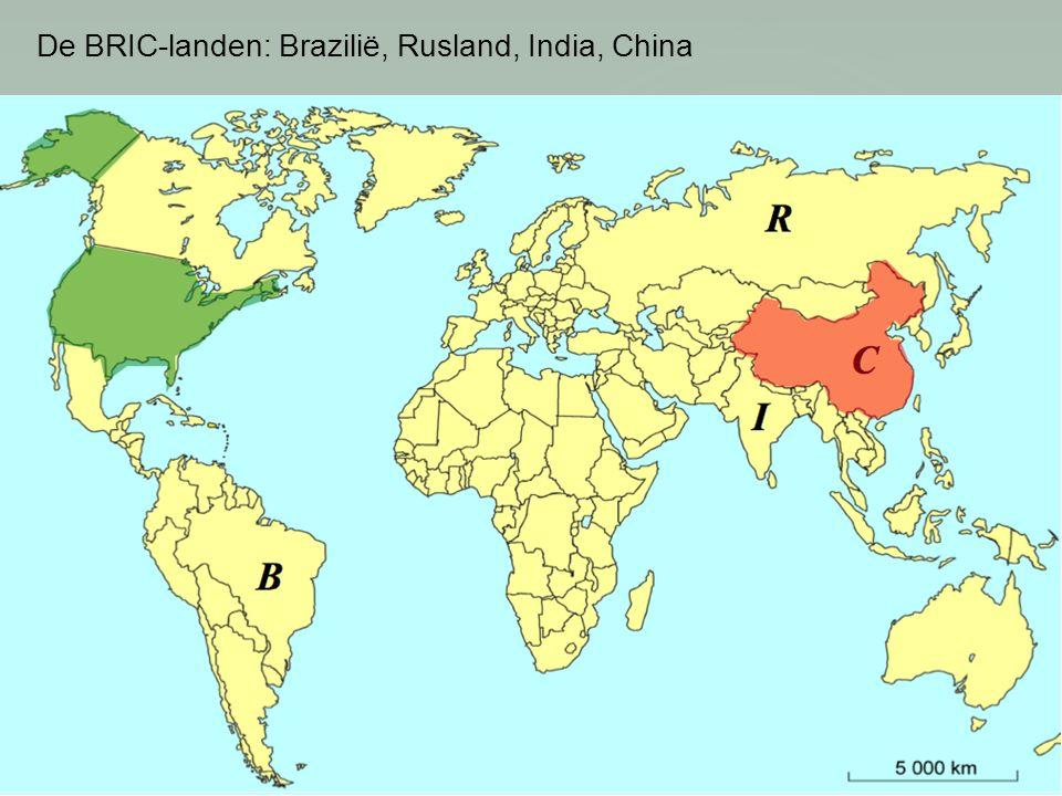 De BRIC-landen: Brazilië, Rusland, India, China