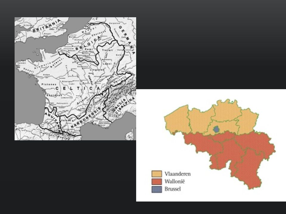 843 : HET VERDRAG VAN VERDUN Ten westen van de Schelde : het latere Graafschap Vlaanderen (nu: West-VL, Oost-VL, Frans-VL, Zeeuws-VL) = leengebied van de Franse koning Ten oosten van de Schelde : het latere Hertogdom Brabant, Henegouwen, Prinsbisdom Luik, Loon, Limburg, … = leengebied van de Duitse koning/keizer