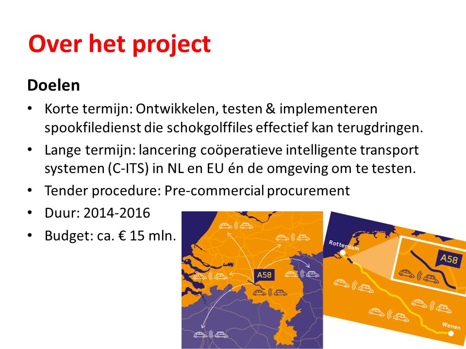 Over het project Doelen Korte termijn: Ontwikkelen, testen & implementeren spookfiledienst die schokgolffiles effectief kan terugdringen.