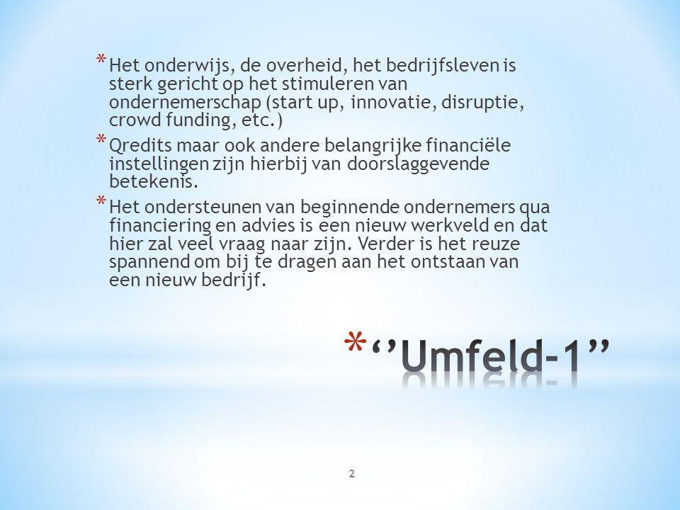 * In Nederland moet er een nieuwe ondernemende houding ontstaan om alle toekomstige uitdagingen (''VUCA world'') met vertrouwen tegemoet te kunnen treden.