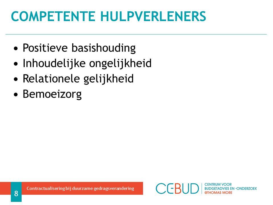 MEER LEZEN 29 Contractualisering bij duurzame gedragsverandering Storms et al.