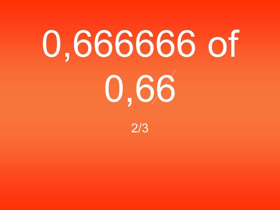 0,666666 of 0,66 2/3