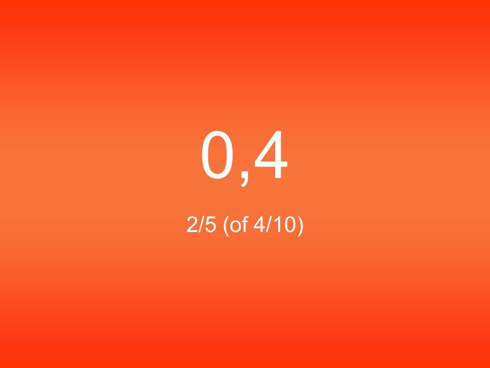 0,4 2/5 (of 4/10)