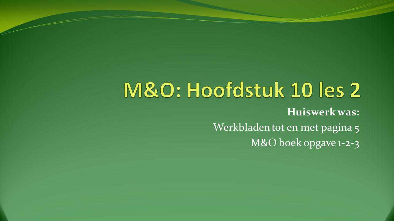 Antwoorden M&O boekje Opgave 1 A.