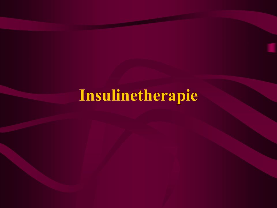 Insulinetherapie