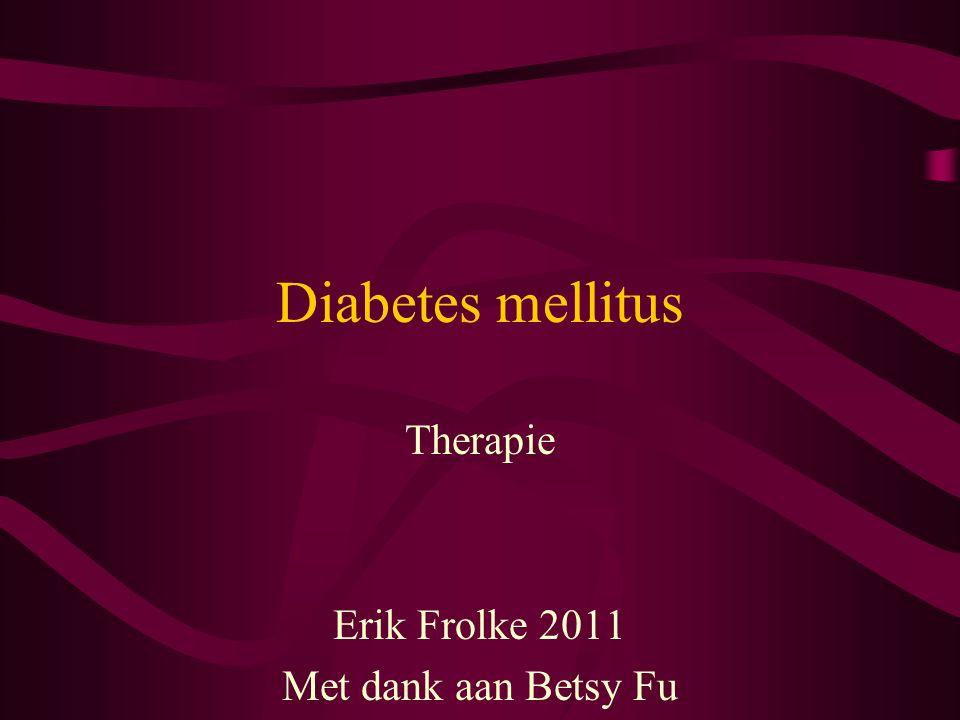 Diabetes mellitus Therapie Erik Frolke 2011 Met dank aan Betsy Fu