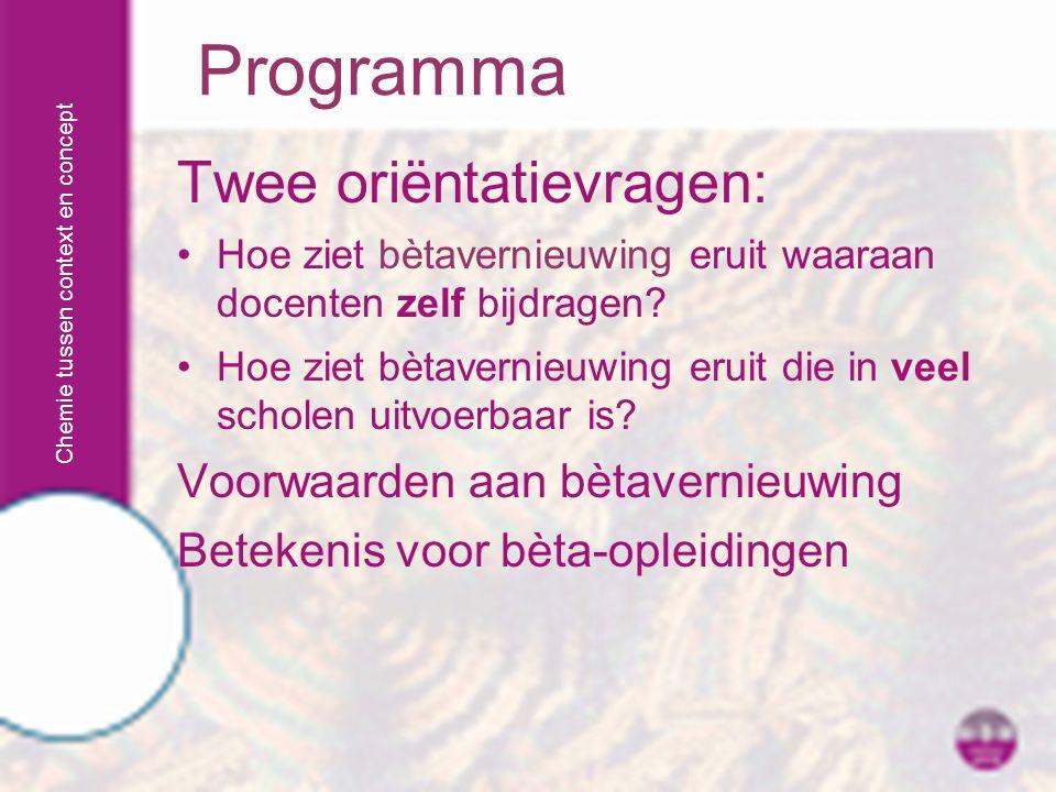 Chemie tussen context en concept Contact: f.seller@kpnplanet.nlf.seller@kpnplanet.nl Dank u wel.