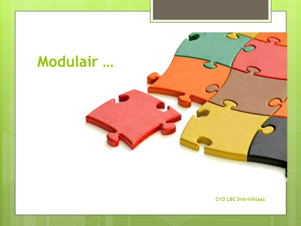 Modulair … CVO LBC Sint-Niklaas