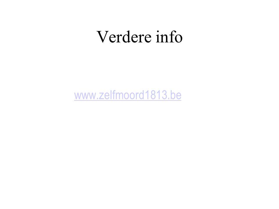 Verdere info www.zelfmoord1813.be
