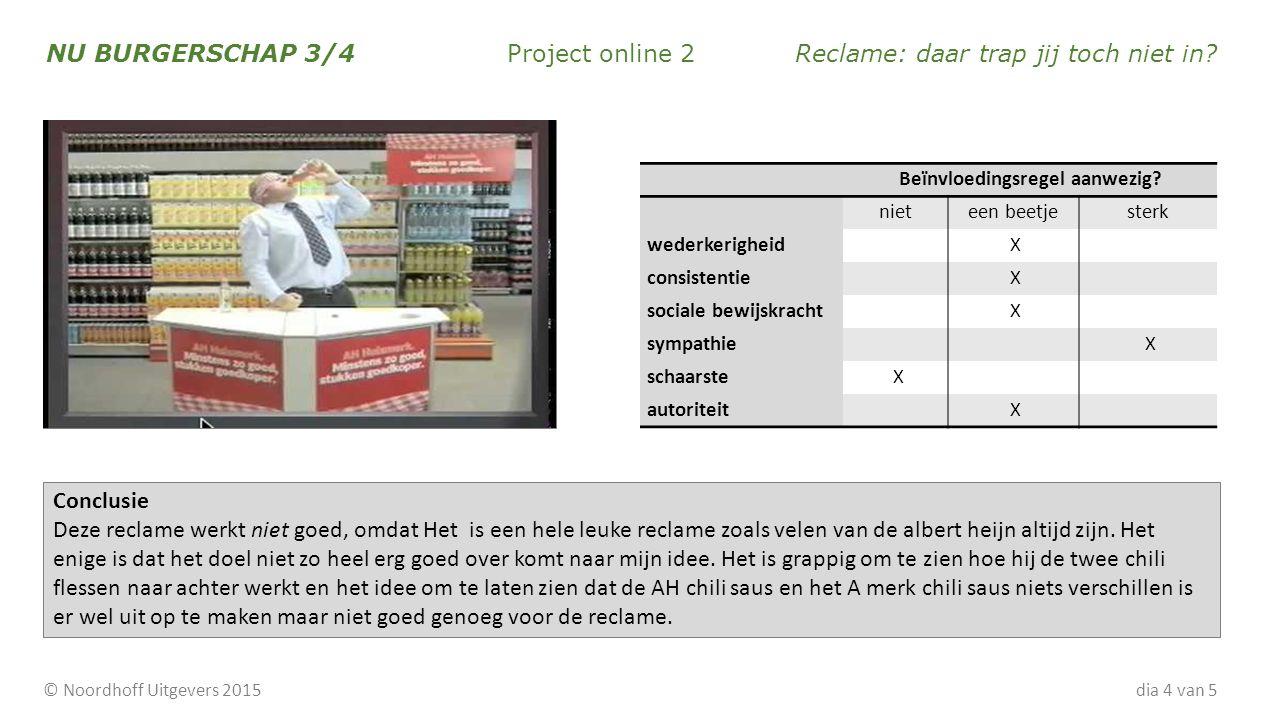 NU BURGERSCHAP 3/4 Project online 2Reclame: daar trap jij toch niet in.