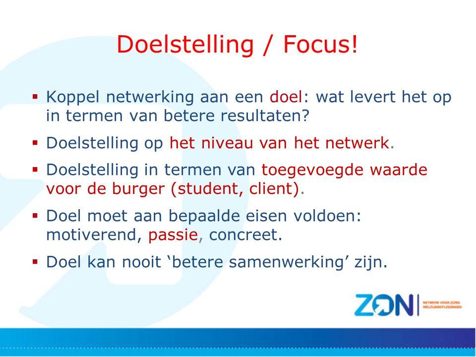 Doelstelling / Focus.