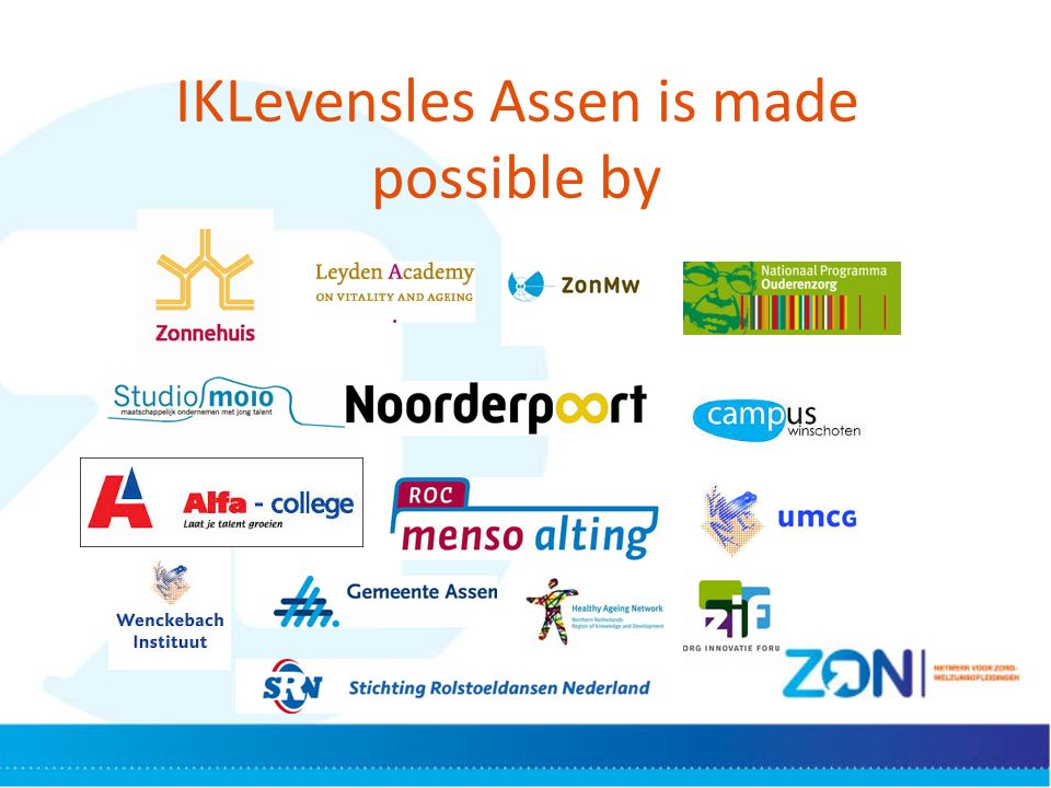 IKLevensles Assen is made possible by