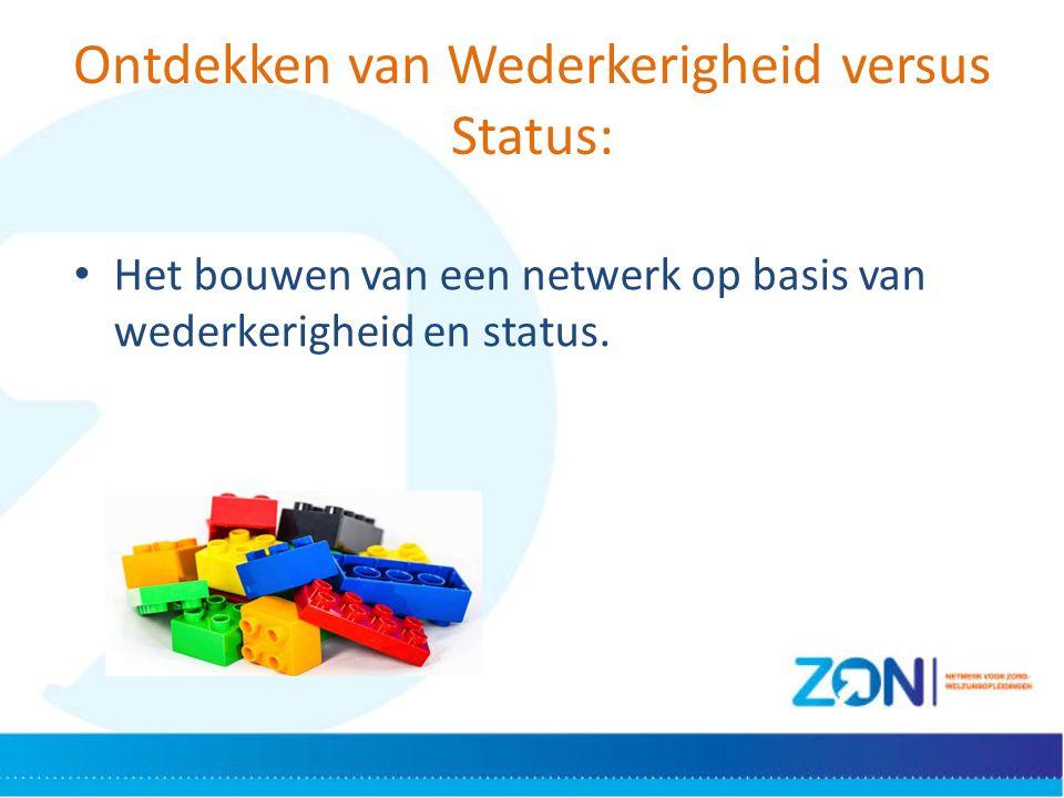 Ontdekken van Wederkerigheid versus Status: Het bouwen van een netwerk op basis van wederkerigheid en status.