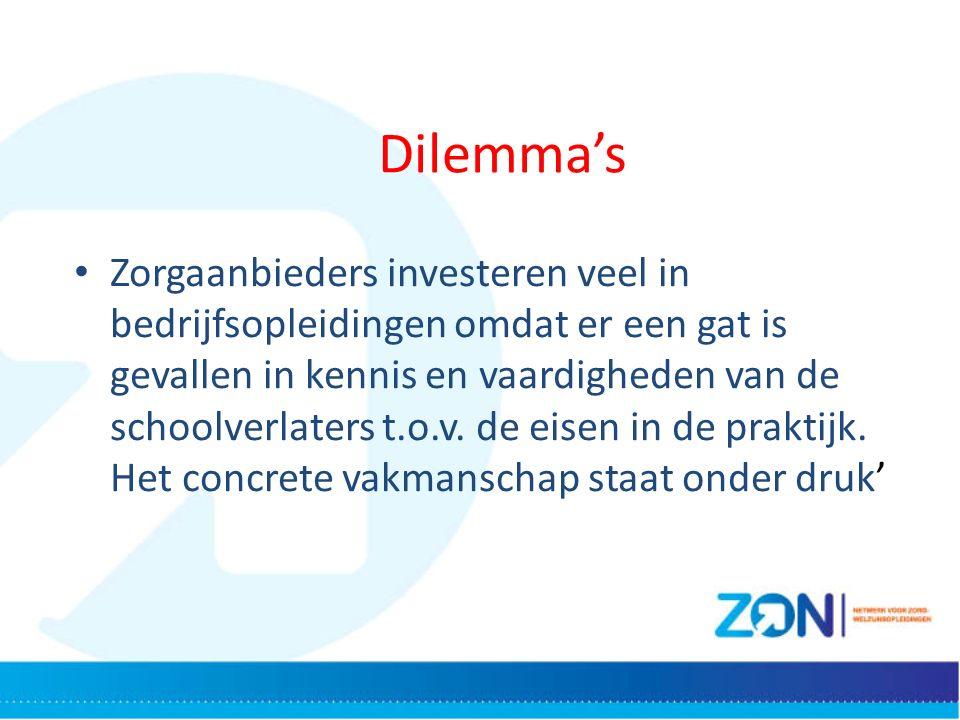 Zorgaanbieders investeren veel in bedrijfsopleidingen omdat er een gat is gevallen in kennis en vaardigheden van de schoolverlaters t.o.v.