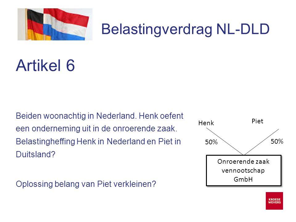 Onze ambitie is accountancy en belastingadvies menselijker en flexibeler te maken Belastingverdrag NL-DLD Artikel 14  Splittingverfahren van toepassing in Duitsland  Dit betekent inkomen wordt gemeenschappelijk berekend en vervolgens belast.