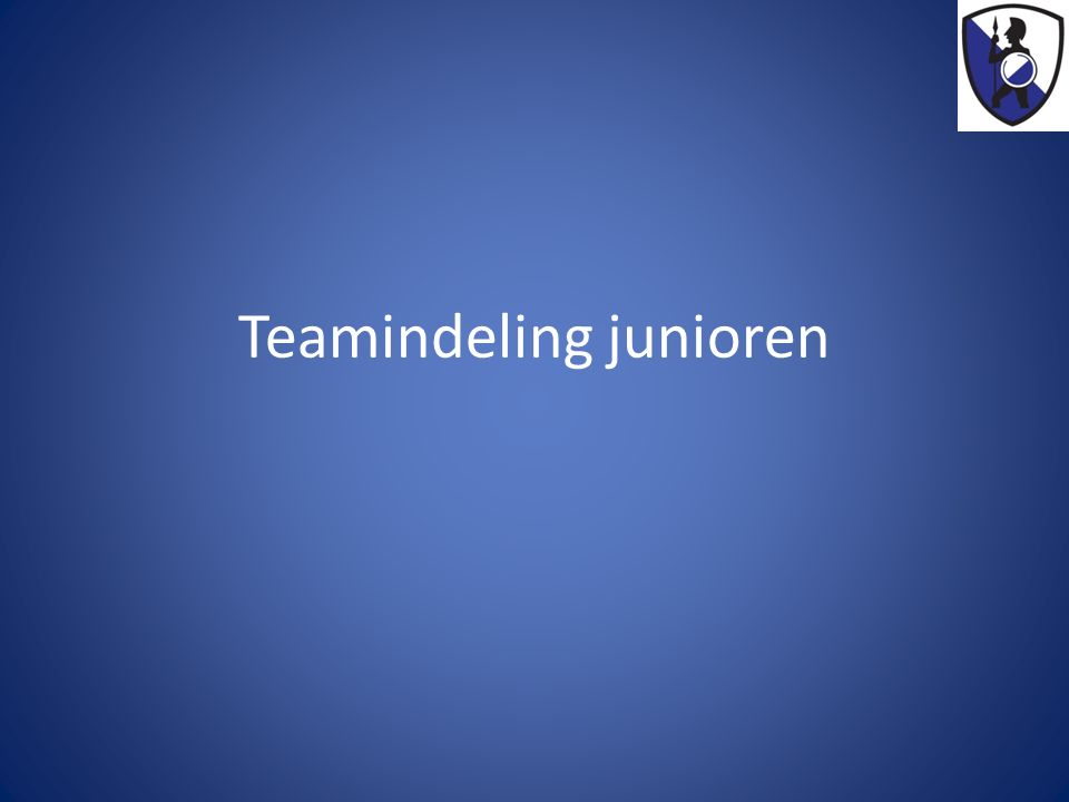 Teamindeling junioren