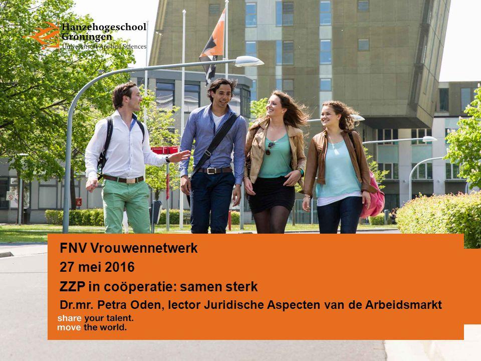 Introductie 1.Ontwikkelingen op arbeidsmarkt 2.ZZP 3.ZZP in coöperatie 27-05-2016