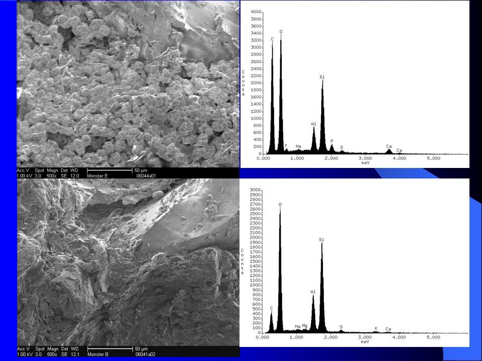 Verkleuring door metaaloxides IJzer IJzer Mangaan Mangaan Vanadium Vanadium