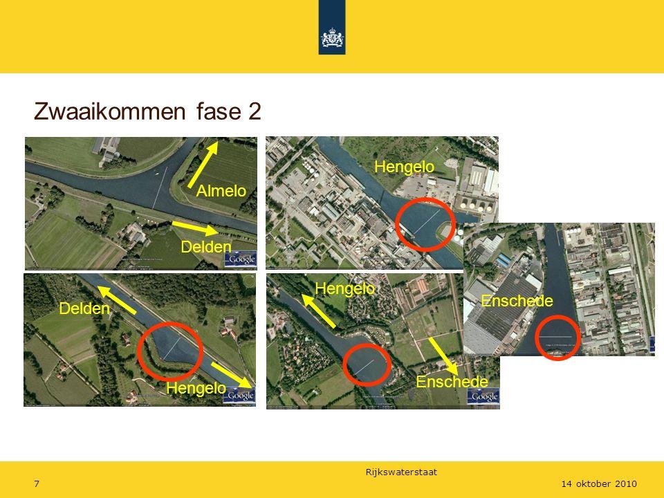 Rijkswaterstaat 714 oktober 2010 Zwaaikommen fase 2 Delden Almelo Delden Hengelo Enschede