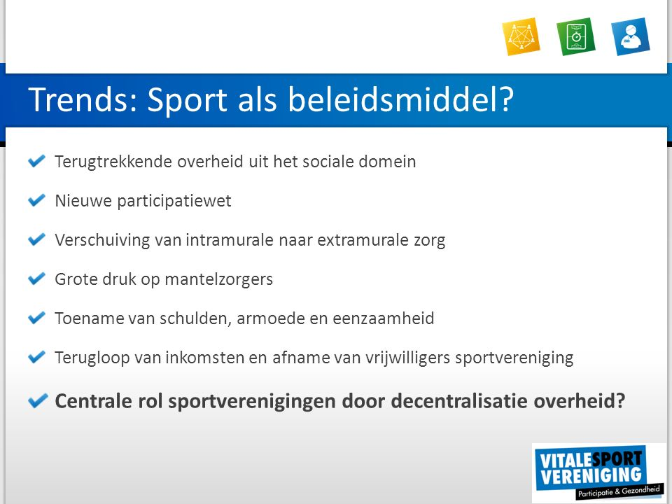 Trends: Sport als beleidsmiddel.