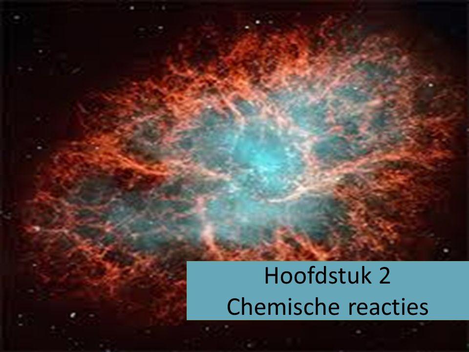 2.1 Verhitten van stoffen Als een stof wordt verhit kunnen verschillende dingen gebeuren gloeien faseverandering Chemische reacties Verbrandingsreactie Brandstof + zuurstof -> verbrandingsproducten Ontledingsreactie Uit één stof ontstaan meerdere reactieproducten